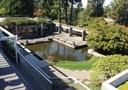 Visão do jardim a partir do terraço superior do PWIAS