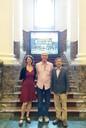 Britta Padberg, Martin Grossmann e o Diretor do National Taiwan Museum Chi-Ming Chen