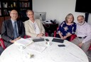 Malcolm Press, Martin Grossmann, Sue Gilligan e Guilherme Ari Plonsky