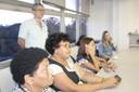 Funcionários do IEA durante a apresentação do novo vice-diretor, Paulo Saldiva