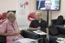 Martin Grossmann, Renato Janine Ribeiro e Marcelo Knobel (via video conferencia)