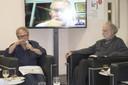 Leopold Nosek, Marcelo Knobel (via video conferência) e Massimo Canevacci