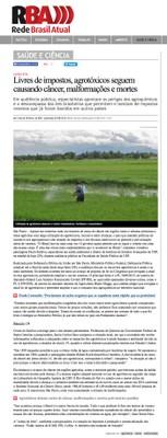 Os riscos dos agrotóxicos à saúde e ao meio ambiente