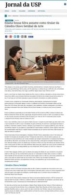 Posse de Eliana Sousa Silva como titular da Cátedra Olavo Setubal