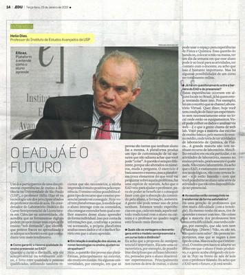 Caderno especial sobre educação - Entrevista Hélio Dias