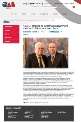 Cátedra Olavo Setúbal no site da OAB