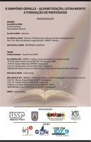 Cartaz letramento e alfabetização